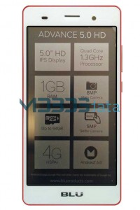BLU ADVANCE 5.0 HD specs